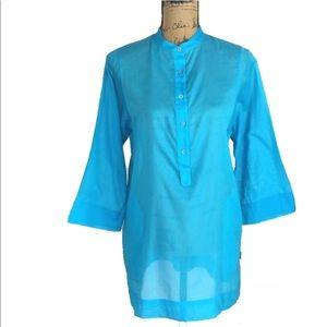 MOSCHINO Mare Top Italy Tunic Shirt Long Pockets